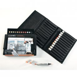 set copic marker  12 couleurs architecture trousse gratuite