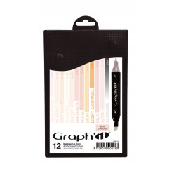 graph it set 12 marqueurs  skin colors