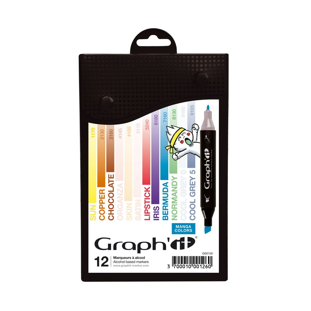 graph it set 12 marqueurs  manga colors