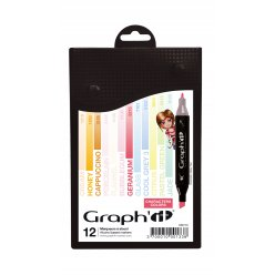 graph it set 12 marqueurs  characters colors