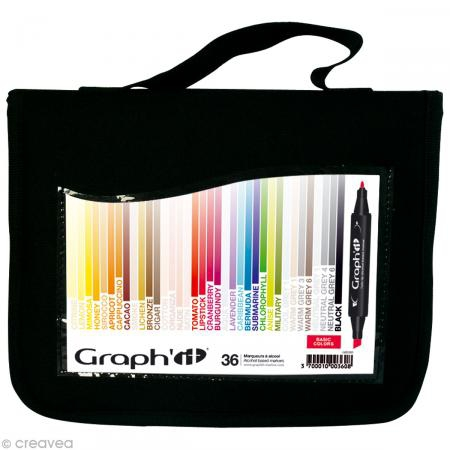 graph it set 36 marqueurs  basic colors
