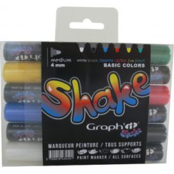 set de 6 marqueurs graph it shake medium  basic