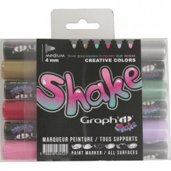 set de 6 marqueurs graph it shake medium  creative