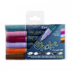 set de 6 marqueurs extra fins graph it shake  additional colors