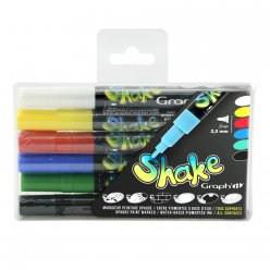 set de 6 marqueurs fins graph it shake  basic colors