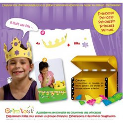 set princesse 4 couronnes en mousse a decorer