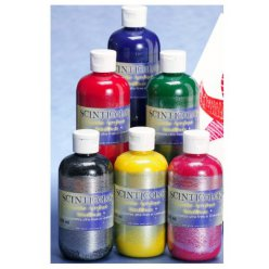 gouaches scintillantes 250ml scinticolor basic lot de 6 pieces