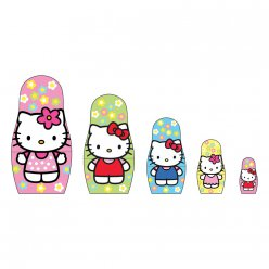 matryoshka hello kitty  poupees a peindre
