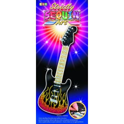 strictly art sequin vertical  guitare
