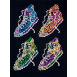art sequin  les baskets