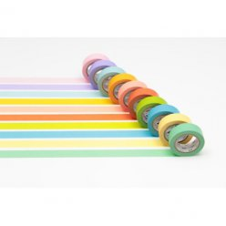set de 10 washi tape mt 15mm unis light color 2