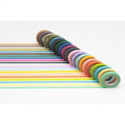 set de 20 washi tape mt slim 7 mm unis