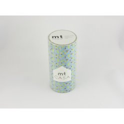 mt casa 10 cm x 10 m petits carreaux tile blue