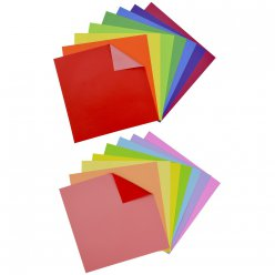 origami waterproof 8 feuilles couleurs dble face 15x15 cm