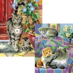 peinture par numeros duo junior  chats