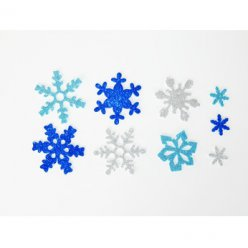 flocons en mousse pailletee lot de 240 pieces