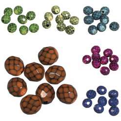 snake  beads 8mm o 100 pieces