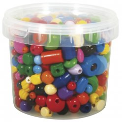 perles en bois multicolores 4  16 mm o 400 gr