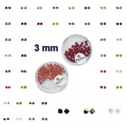 perles cristal swarovski 3 mm 50 pieces