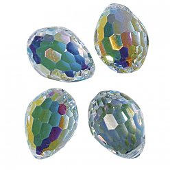 swarovski perles cristal 10x7 mm 2 pieces