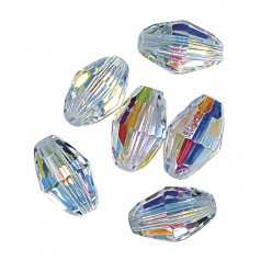 swarovski olive cristal 75x5 mm 8 pieces