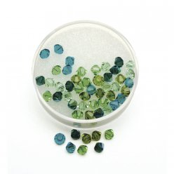 perles cristal swarovski assortiment vert 4mm 50 pieces
