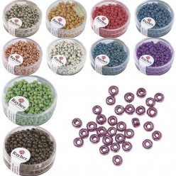 metallic  rocailles rondes depolies 4 mm boite 17 g