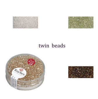 twin  rocailles 25x5mm transparentes 10g