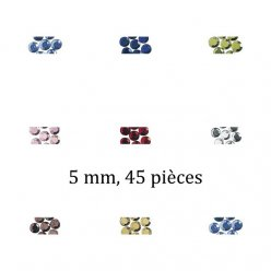 pierres strass en verre thermofixable 5mm