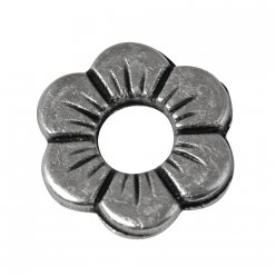 ornement en metal fleur 12mm o 3 pieces