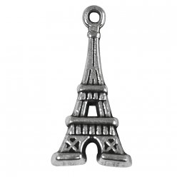 breloque en metal tour eiffel 19mm o 3 pieces