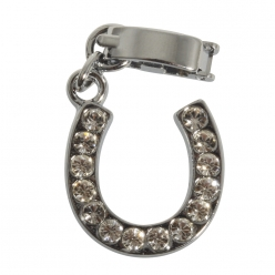 shoe  charms avec clip fer a cheval strass 14 mm