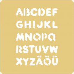 pochoirs embossing 65x65 mm alphabet grand