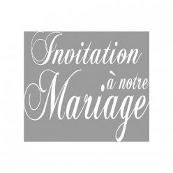 tampon invitation a notre mariage 7x6 cm