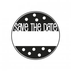 tampon save the date 3 cm o