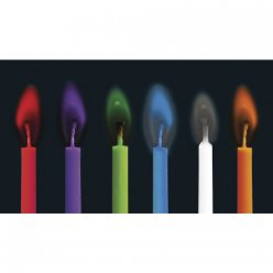 bougies de fete flamme coloree o5mm