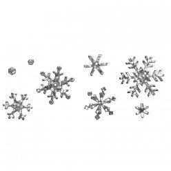sticker autocollant motif diamant flocon neige