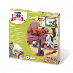 kit pate a modeler fimo kids animaux familiers