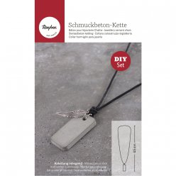 kit pendentif en beton rectangle et plume