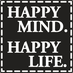 labels  poincons happy mind happy life