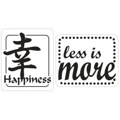 labels  poincons happiness less is more