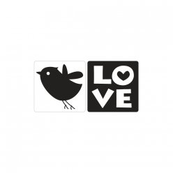 labels  poincons love oiseau