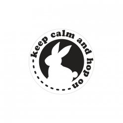 labels  poincons keep calm and hop on 45mm o