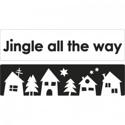 labels jingle village de noel 60x15mm