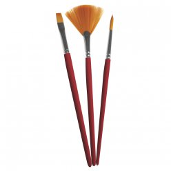 set de pinceaux art assortis synthetiques 3 pc courts
