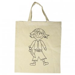 sac en coton avec impression pirate 38x42 cm