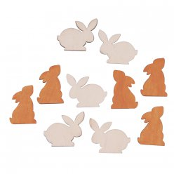 miniatures lapins 4x3 cm 10 pieces
