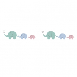 washi tape famille d elephants