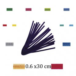 filin chenille 30 cmx6mm 25 pieces