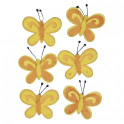 papillon en feutrine 5 cm 6 pieces